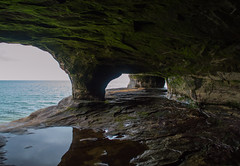 3-6 (jillybeanmi) Tags: christmas summer texture nature water rock swim landscape landscapes paradise michigan secret hidden caves lakesuperior waterscape munising uppermichigan puremichigan lakesuperiorfun