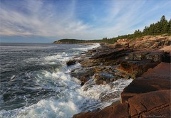"Acadia "" Otter Cliffs  and Coastline"" (Daniel Behm Photography) Tags: ocean park sky seascape clouds landscape daniel maine cliffs atlantic national otter atlanticocean acadia ottercliffs acadianationalpark oceanscape behm danielbehm"