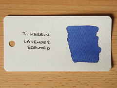 J Herbin Lavender Scented - Word Card