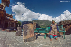 Having rest. Nowhere to rush.  :) (riaz photography) Tags: old india photography women alone sitting nowhere m rush rest hassan himalaya having himachal oldwomen riaz riyas riazphotography