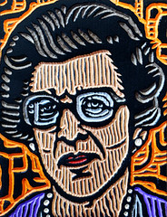 agt20 (Lisa Brawn) Tags: wood portrait calgary art illustration portraits vintage painting design woodcuts graphics folkart carving retro popart alberta government woodcut woodcarving woodblock brawn employees canadiana reclaimed salvaged woodblocks portraitpainting upcycled lisabrawn