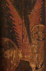 Wiggenhall, St. Mary Magdalen, Norfolk, screen, detail (groenling) Tags: wood uk greatbritain england saint painting britain mark norfolk lion screen gb magdalen evangelist heilige wiggenhall stmarymagdalen