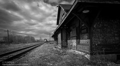 Are we ready to leave for a lost journey? (photoMakak) Tags: canada abandoned train canon gare quebec decay trainstation derelict canonef1740mmf4lusm ruraldecay 6d abandonn ruralexploration rurex ruralquebec qubecrural canon6d ruralexplorer photomakak