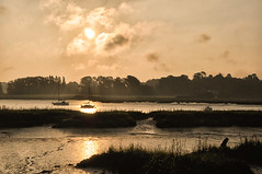 Kyson Point (Susan Shervington) Tags: uk colour water sunrise river landscape boat nikon woodbridge d90 riverdeben kysonpoint