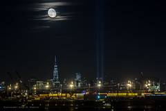 WTC 9/11 (Mike M Martin) Tags: world new york city nyc moon night long exposure cityscape 911 center wtc trade