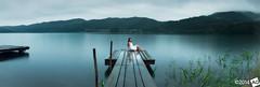 O u t O f M i n d (AnthonyGinmanPhotography) Tags: portrait panorama lake japan sunrise naganoprefecture novoflex modelshoot aokiko offcameraflash omachi