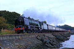 IMG_1917 (aiy2012) Tags: uk train river edinburgh br britain stirling united kingdom loco steam forth british sutherland railways culross duchess lms srps alloa 46233
