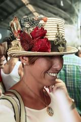 Sonrisa vintage (Lorena Pedrajas) Tags: summer smile hat canon vintage market modelo verano sonrisa sombrero