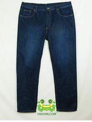 กางเกงยีนส์ขากระบอกเล็กผู้ชายอ้วนบิ๊กไซส์สีบลู มีปักกระเป๋าหลัง JNLY 002 หน้า