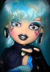 Siernna Calmer (DollyDolly - The Lass with Toys and a Camera) Tags: blue eyes topv555 doll glasseyes bluehair articulated bratz poseable houseofwitches bratzillaz siernnacalmer