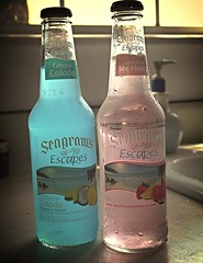seagrams brand / Jamaican me happy, Mon! (N@ncyN@nce) Tags: strawberry coconut cocktail pineapple tropical alcoholic refreshing happyhour seagrams pinacolada maltbeverage winecoolers jamaicanmehappy