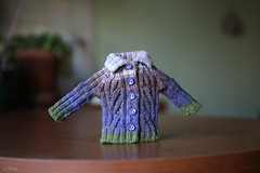 New sweater (Echo (EchoForDolls)) Tags: sweater knitting doll buttons knit cables blythe etsy echofordolls