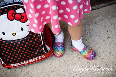 Sparkling (Angela Weirauch Photography) Tags: hello pink girl canon 50mm prime texas dress hellokitty kitty backpack pearland backtoschool 6d canon6d pearlandtexas