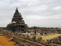 The Shore Temple, Mahabalipuram, June 2010 (leonyaakov) Tags: travel holiday landscape unesco temples hindu hinduism seashore tamilnadu mahabalipuram stoneart shoretemple rockcarving  marculescueugendreamsoflightportal