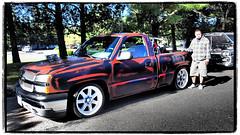 Chevy Truck Pride (NoJuan) Tags: chevrolet truck chevy trucks carshow chevytruck americanpickup micro43 microfourthirds xxxdriveinissaquah olympusep5 olympus1250mmf3563 dragginintowinternoregretscustomtruckcarshow