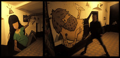 Out in the sticks 2013 (yoisnumbertwo // stencilove) Tags: urban pasteup art cutout graffiti character yo marker stret ladyb stencilove