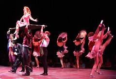 """A scene from the Music Circus production of """"Crazy for You"""" at the Wells Fargo Pavilion Aug 28 – Sep 2. Photo by Charr Crail."""