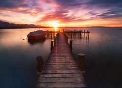 I'll wait for you here (Croosterpix) Tags: sunset lake water sky sun landscape nikond610 nikkor1835 nisi