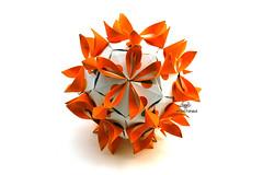 Sunshine (Akizhi) Tags: origami kusudama modular paper art fold craft
