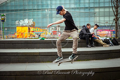 Skateboarder (slaup) Tags: skateboarder action movement trick talented teenager young adult male man boy group street candid photography