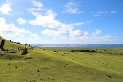 Rano Raraku moai quarry, Easter Island (sj.fisher) Tags: easter island rano raraku