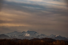 The last snow (Mattia Pianca) Tags: nikon d90 nikkor 18105 105 105mm tele telelens mountains montagne montagna neve snow winter inverno alberi tree luce light sunset tramonto sky cielo cloud clouds nuvole warm italia italy spot ngc landscape panorama paesaggio travel tourist