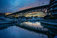 The Bridge (World-viewer) Tags: bc vancouver canada sunset water marine blue bluehour sony ilce6000 reflection nice pretty ngc vista travel landscape outdoor evening night clouds boat boats harbor pacific bay waterfront cityscape architecture bridge shore shoreline marina nature artistic street rain dark weather nightimages nightimage nightphotography