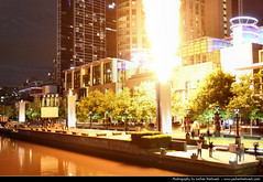 Flame Thrower, Crown Casino, Melbourne, Australia (JH_1982) Tags: show travel light chimney travelling night canon dark spectacular fire eos lights evening noche shoot darkness shot nacht flames australia melbourne victoria casino illuminated gas flame huge vic crown australien traveling tamron effect nuit notte chimneys australie 18mm ночь thrower 夜 澳大利亚 墨尔本 オーストラリア 晚上 メルボルン 270mm мельбурн австралия 60d 오스트레일리아 멜버른 виктория ビクトリア州 維多利亞州 मेलबॉर्न