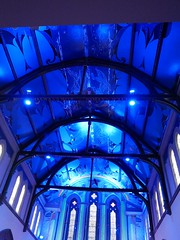 Painted Ceiling - Alasdair Gray (the justified sinner) Tags: glasgow panasonic f25 oranmor 14mm gx7 justifiedsinner