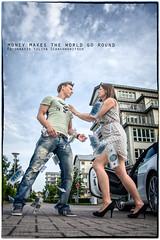 money makes the world go round 8 (ya.yuli) Tags: auto woman man money dollar mann frau audi geld flucht streit