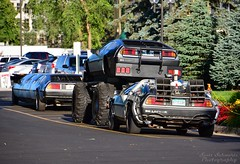 Deloreans in all sizes (scott597) Tags: show ohio car 4x4 bttf convention delorean dmc12 dayton dcs 2014