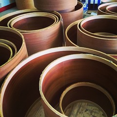 Back in the shop and back to what I love doing most. Building drums. #qdrumco #mahogany