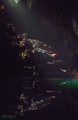Cascade (Kriegaffe 9) Tags: light sunlight reflection cars pool dark rust mine decay cave scrap murky d600 kriegaffe9