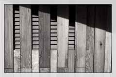 Wall and Vent (pigpogm) Tags: wood blackandwhite monochrome wall vent photos edenproject canonfl58f12 mxpp normalityframedmono