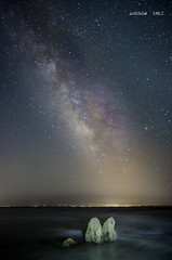 El camello. (Francisco J. Prez.) Tags: naturaleza nature night mar spain cadiz nocturnas cdiz playas tarifa vialctea campodegibraltar playasdetarifa pentaxart pentax14mm28 pentaxk5 franciscojprez
