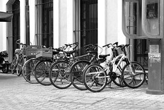 Bicycles parking (mare_maris off for a while) Tags: street city pink urban white black building travelling bike bicycle architecture vintage photography nikon thankyou ride traffic lock parking streetphotography bikes visit mosque bicycles explore greece baskets exploreinterestingness floyd nikondigital turkish onthestreet digitalphotos biciclette thrace  2500views abigfave bicyclesparking turkishmosque blackandwhiteredfilter anawesomeshot lineof  northengreece livelearnlove  over2500views d5100 nikond5100 june2014 greeceaplacetovisit exploredonjune272014 pinkfloydbike lineofbicycles
