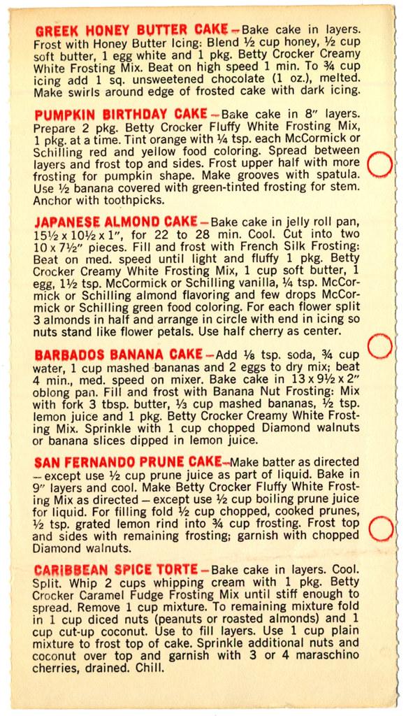 Betty Crocker Banana Spice Cake