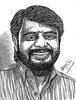 Director VIKRAMAN Portrait   Pen Drawing by Artist AniKartick Chennai Tamil Nadu India