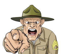 Cartoon angry army drill sergeant shouting (KoiQuestion) Tags: camp usa man male green hat infantry illustration training soldier army boot us uniform order power you character military authority cartoon anger american scream angry marines wants mad bootcamp screaming yelling pointing bully yell vector officer basic sargent forces troop drill shouting shout sergeant instructor armed bullying seargent drillsergeant dril
