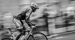 Commonwealth Cyclist (doug_rattray) Tags: blackandwhite bw motion blur sport nikon cyclist glasgow motionblur panning commonwealth d7000