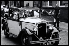 Norma Jean B&W (stevefge (away travelling)) Tags: uk people classic car vintage austin lordmayor parade hull eastyorkshire