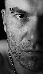 Half me (david.beuret) Tags: portrait blackandwhite eye me face autoportrait noiretblanc yeux half visage il selfi