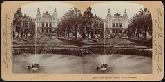 The casino, Monte Carlo, Monaco (Boston Public Library) Tags: gardens palms fountains resorts bostonpubliclibrary casinos bpl stereographs photographicprints