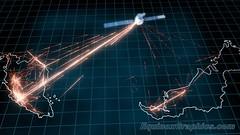Malaysian satellite network illustration