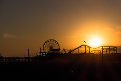 Santa Monica pier (riknor) Tags: california santa sunset la pier losangeles los angeles santamonica monica leicac