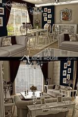 Thiết kế nội thất phòng khách tân cổ điển_003
