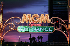MGM Grand Casino and Hotel Arch (Vern Krutein) Tags: city travel usa southwest glitter architecture desert lasvegas nevada entrance casino structure american neonlights americana scenics clarkcounty mgmgrandcasinoandhotel csnv02p0207