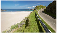 Clashnessie Beach & Road North, Assynt (Gordon_Farquhar) Tags: ocean road sea summer beach water scotland highlands sand rocks north atlantic assynt clashnessie