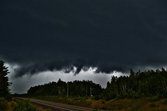 July 28th 2014  Thunderstorm east of Miramichi NB (nbstormchaser) Tags: sky storm nature weather clouds wind newbrunswick thunderstorm lightning storms cloudporn severeweather cumulonimbus outflow skyporn shelfcloud gustfront