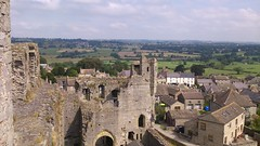 Looking over the Dales from Middleham Castle